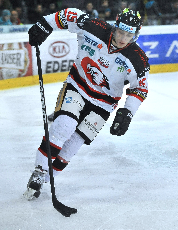 Eishockey Black Wings Linz Vs Hc Orli Znojmo 23 12 2012 Antonin Boruta